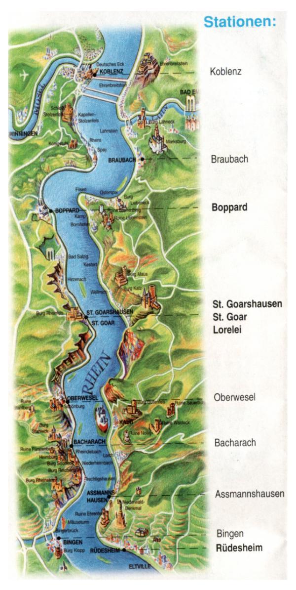 Mittelrheintal Karte.Rheinland2